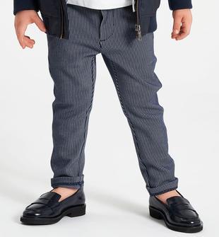 Elegante pantalone in fantasia jacquard ido NAVY-3885