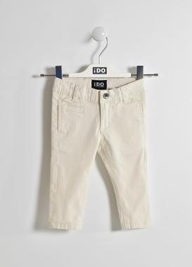 Pantalone in twill per bambino ido ECRU'-0441