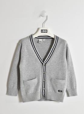 Raffinato cardigan in tricot ido GRIGIO MELANGE-8992
