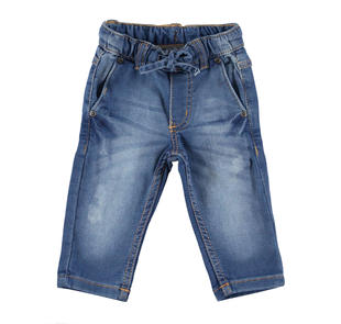 Pantalone in felpa denim ido STONE WASHED CHIARO-7400