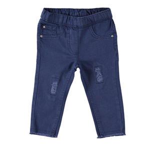Pantalone in tessuto twill super stretch di cotone ido NAVY-3854