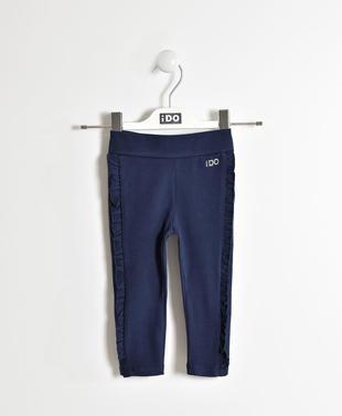 Leggings con rouches ido NAVY-3854