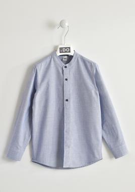 Camicia 100% cotone con collo alla coreana ido NAVY-3657