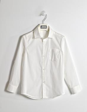 Camicia avvitata in misto cotone ido BIANCO-0113