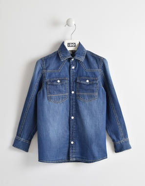 Grintosa camicia denim ido STONE WASHED-7450