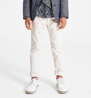 Pantalone lungo in twill leggero ido BIANCO-0113