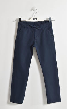 Pantalone in tessuto di cotone stretch ido GRIGIO-3845