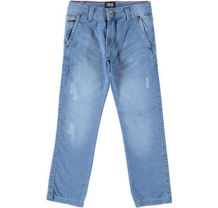 Denim iDO modello chino ido STONE BLEACH-7350