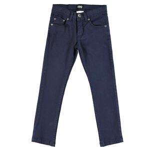 Pantalone in twill stretch per bambino ido NAVY-3885