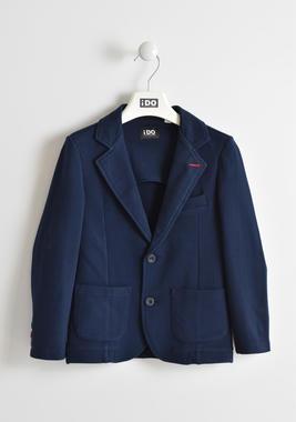 Elegante giacca in piquet stretch ido NAVY-3885