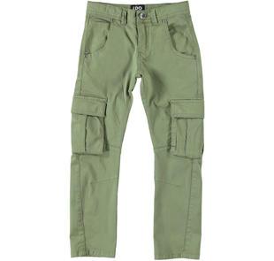 Pantalone modello cargo con tasconi ido VERDE MILITARE-5457