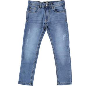 Jeans denim stretch ido STONE WASHED CHIARO-7400