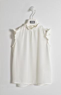 Camicia in elegante tessuto crepe ido PANNA-0112