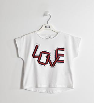 T-shirt 100% cotone scritta