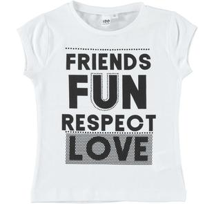 T-shirt 100% cotone Friends Fun ido BIANCO-0113