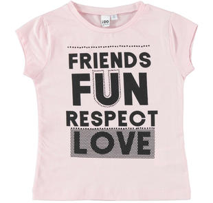 T-shirt 100% cotone Friends Fun ido ROSA-2715