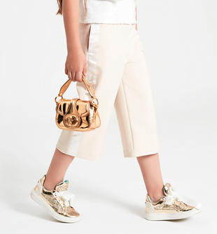 Pantalone modello gaucho con raso laterale ido BEIGE-0151