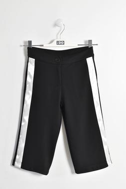 Pantalone modello gaucho con raso laterale ido NERO-0658