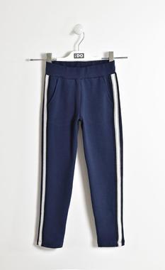 Pantalone con fettuccia rigata lurex ido NAVY-3854