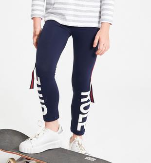 Leggings in jersey stretch con bande ido NAVY-3854