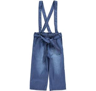 Particolare pantalone con bretelle 100% cotone ido STONE WASHED-7450