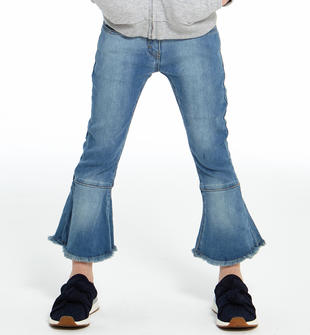 Pantalone in denim stretch con fondo gamba a campana ido STONE BLEACH-7350