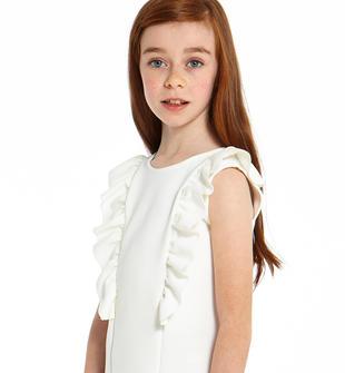 Abito chic per bambina dalla vestibilità mini ido PANNA-0112