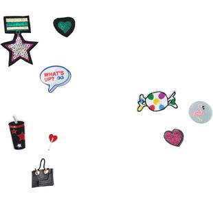 Colorate patches da applicare ido NERO-FUXIA-8085