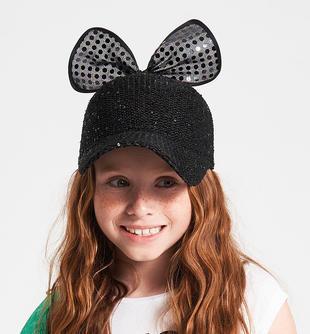 Cappello con paillettes ido NERO-0658