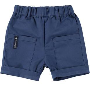 Grazioso pantalone corto in twill ido NAVY-3547