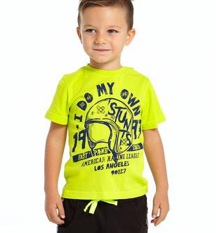 Comoda t-shirt 100% cotone con stampa ido VERDE-5237