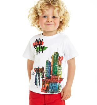 T-shirt stampa New York ido BIANCO-0113