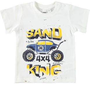 T-shirt 100% cotone Big Wheels ido PANNA-0112