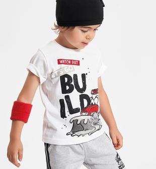 T-shirt con ruspa animata ido BIANCO-0113