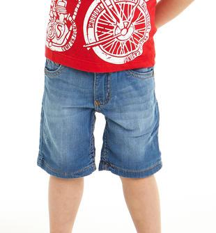 Pantalone corto in denim stretch ido STONE WASHED CHIARO-7400