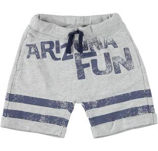 Pantalone corto con grintosa stampa ido GRIGIO MELANGE-8992