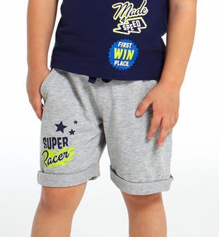 Pantalone corto in felpa Super Racer ido GRIGIO MELANGE-8992