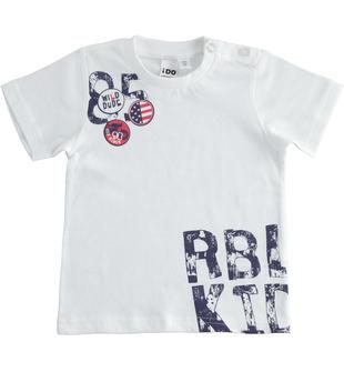 T-shirt in jersey 100% cotone ido BIANCO-0113