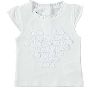 T-shirt con cuore in voile ido BIANCO-0113