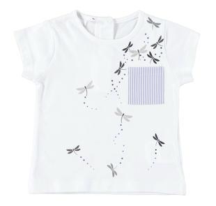 T-shirt con grazioso taschino ido BIANCO-0113
