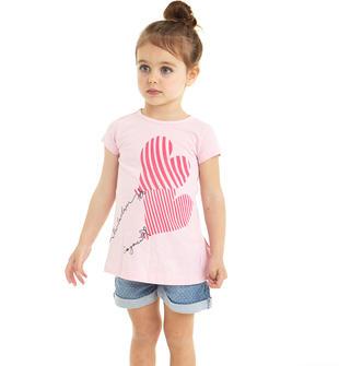T-shirt 100% cotone con palloncino a cuore ido LT.PINK-2732