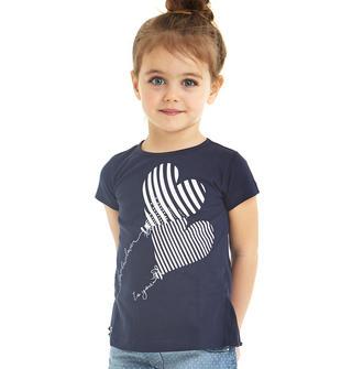 T-shirt 100% cotone con palloncino a cuore ido NAVY-3854