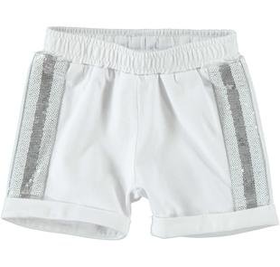 Shorts in felpa con bande laterali ido BIANCO-0113