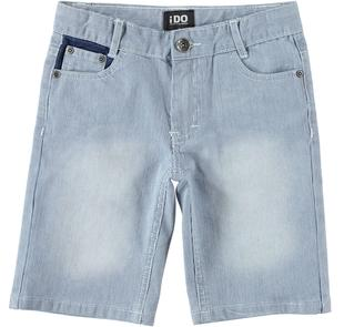 Pantalone corto in denim rigato ido STONE WASHED-7450