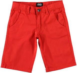 Pantalone in twill al ginocchio ido ROSSO-2256