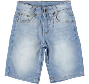 Pantalone corto in denim per bambino ido STONE BLEACH-7350