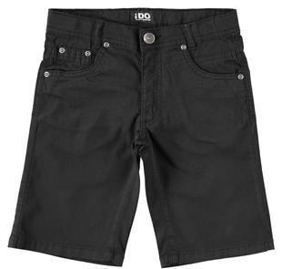 Pantalone corto in twill tinta unita ido NERO-0658