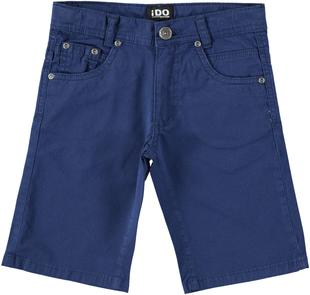 Pantalone corto in twill tinta unita ido NAVY-3547