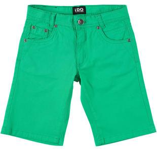 Pantalone corto in twill tinta unita ido VERDE-5052