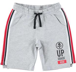 Pantalone corto in felpa leggera ido GRIGIO MELANGE-8992